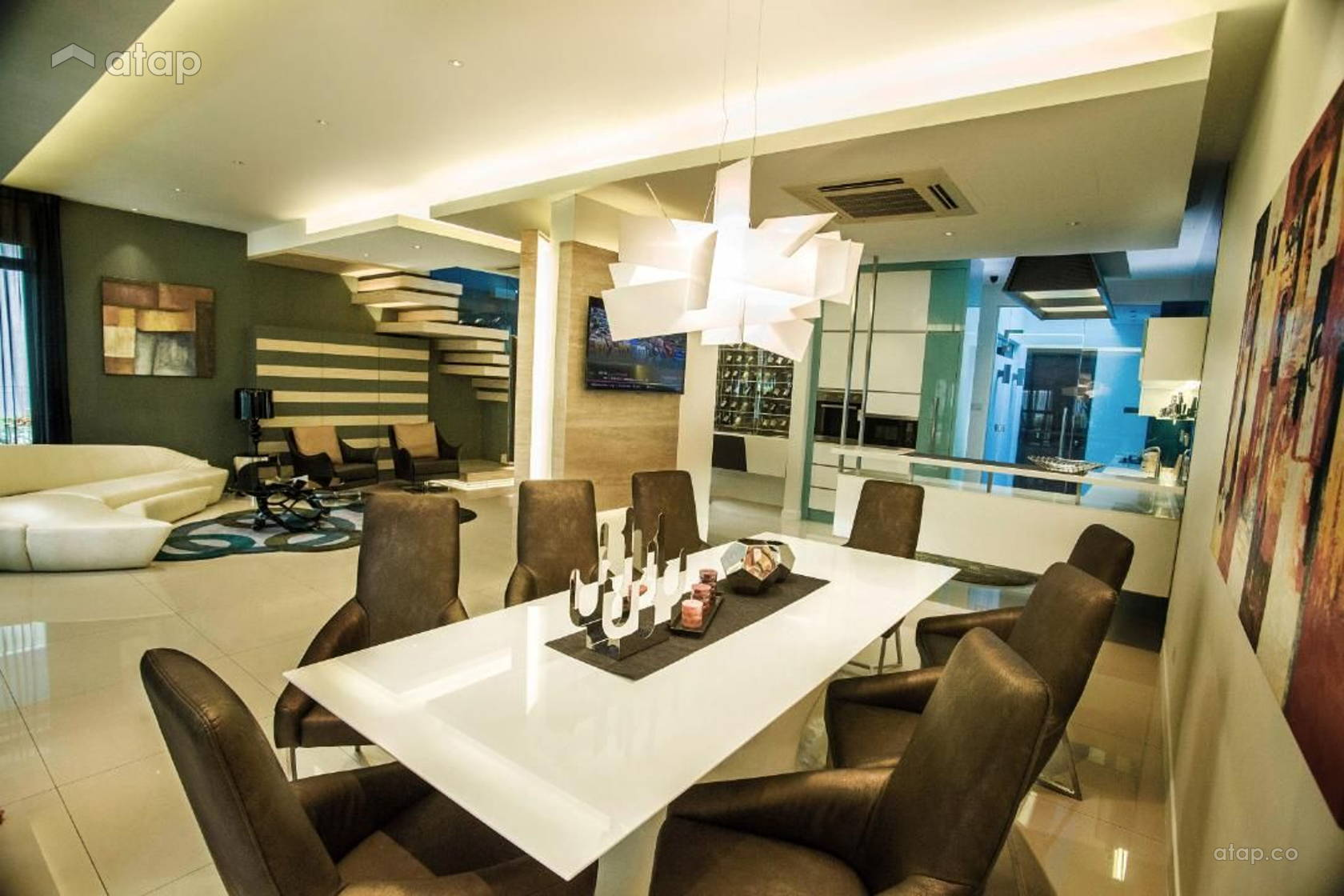 Contemporary modern living room dining room semi detached for Modern living room malaysia