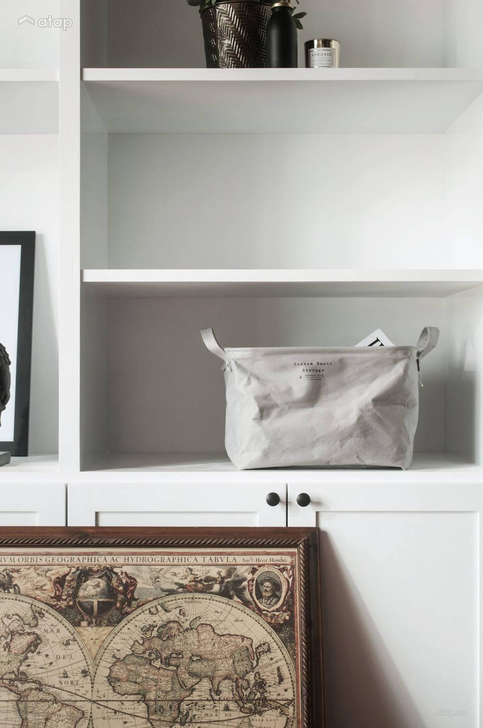 Condominium Study Room: Contemporary Study Room Condominium Design Ideas & Photos