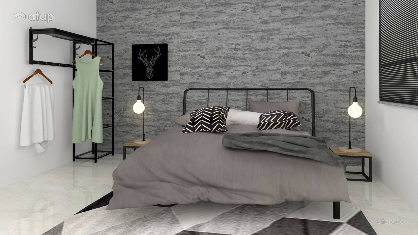 Charmant Industrial Bedroom Condominium Design Ideas U0026 Photos ...
