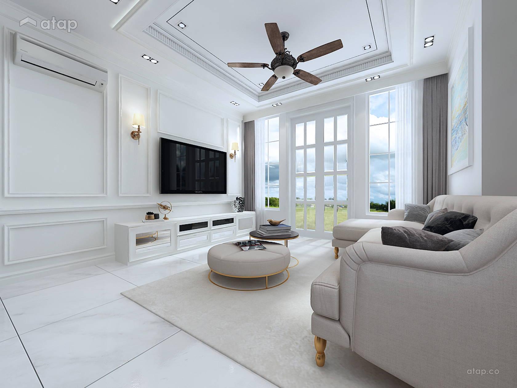 Classic Modern Living Room terrace design ideas & photos Malaysia