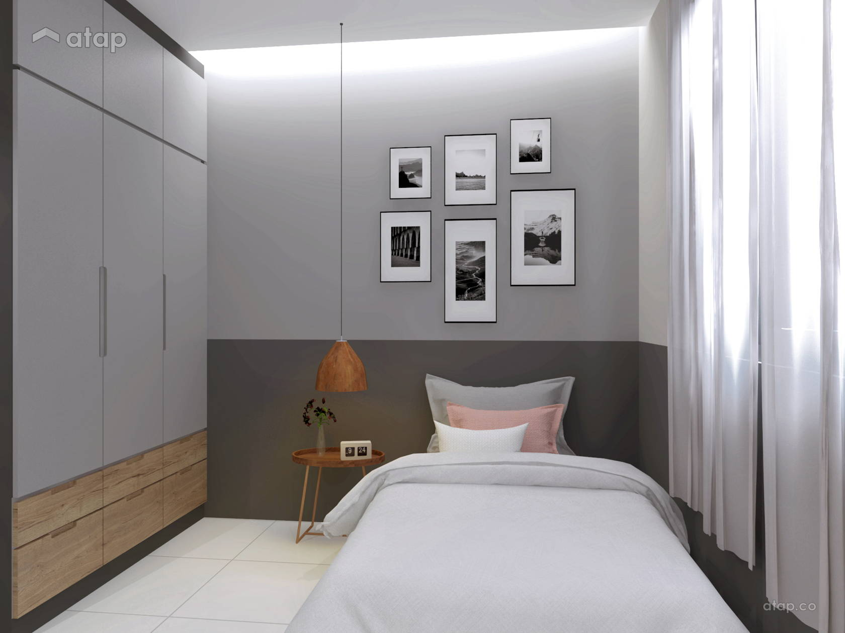 Bedroom @ Sky Peak Residential Muji Style Design