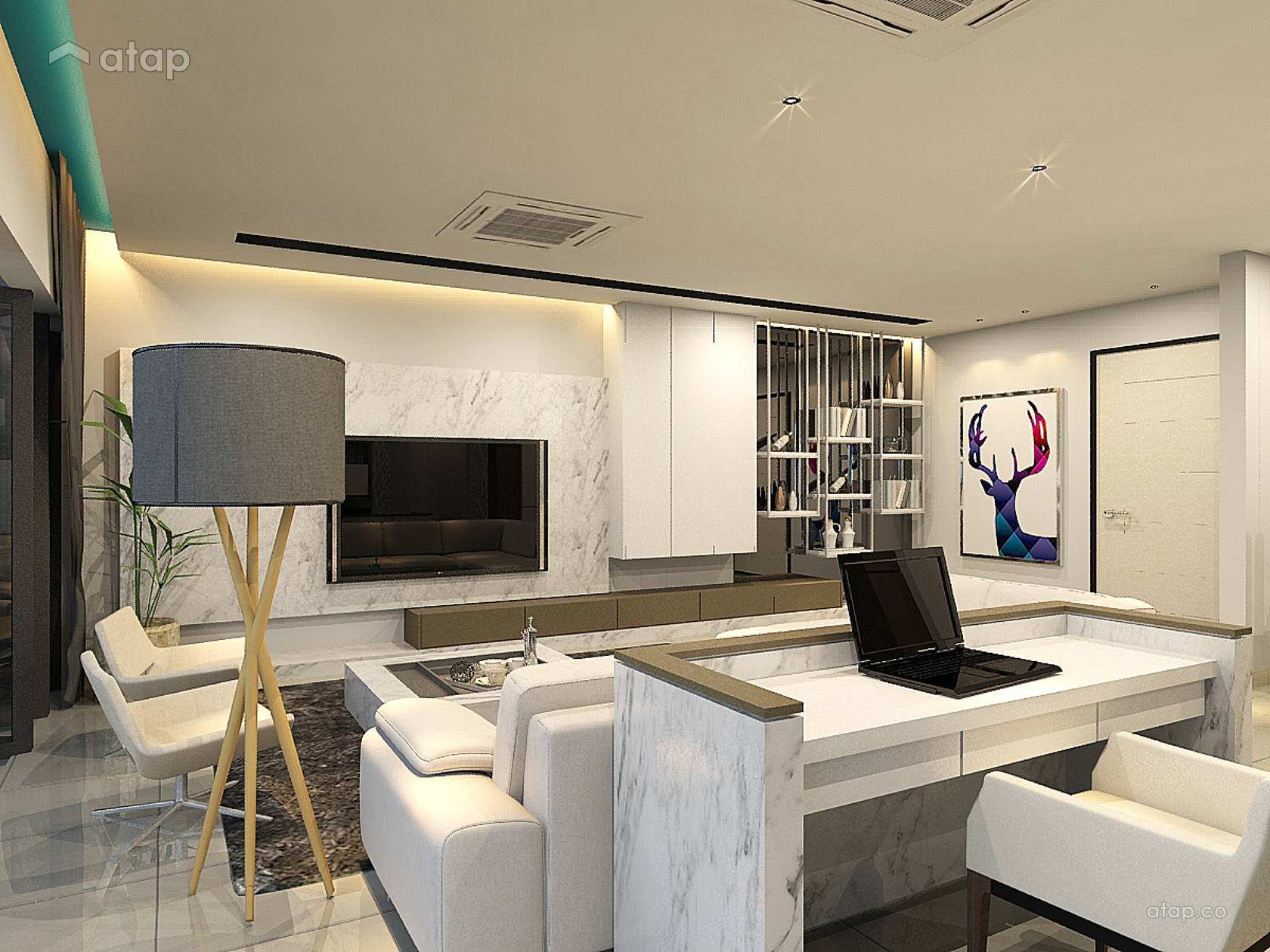 Modern Living Room condominium design ideas & photos ...