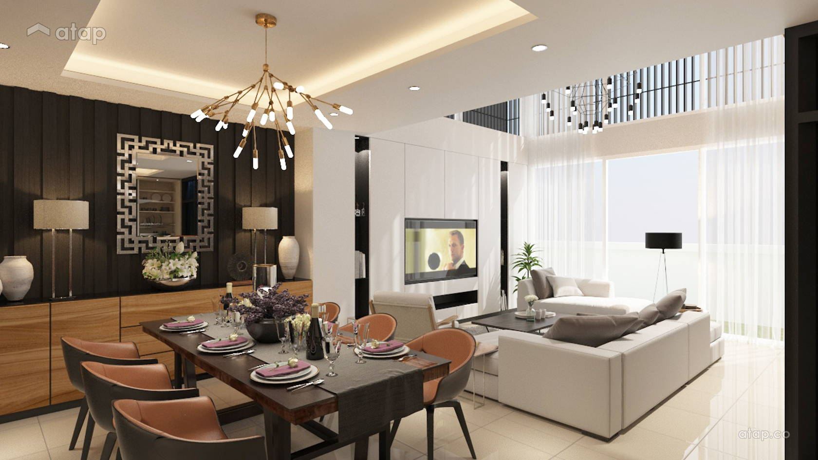 Contemporary Modern Dining Room Living Room @ Periwinkle @ Kota Kemuning