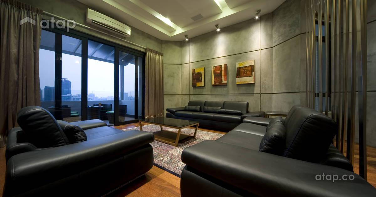 Industrial Rustic Living Room Condominium Design Ideas