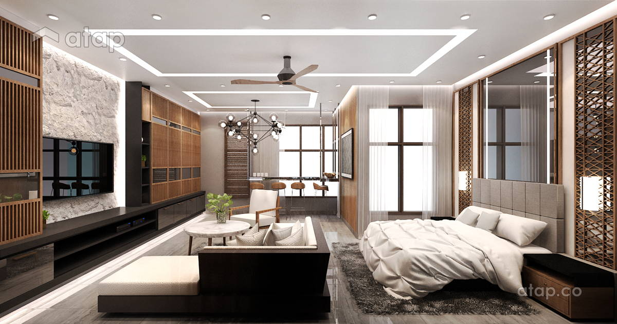 Contemporary modern dining room study room condominium - Study room in house ...