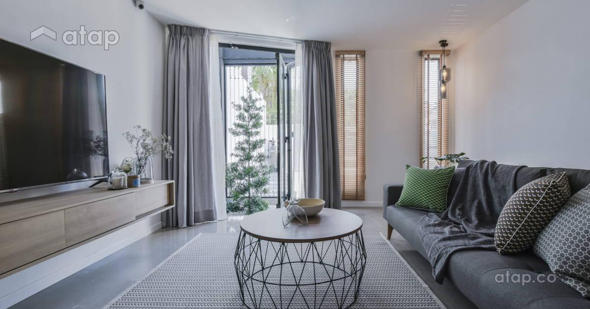 Minimalistic Scandinavian Living Room Terrace Design Ideas