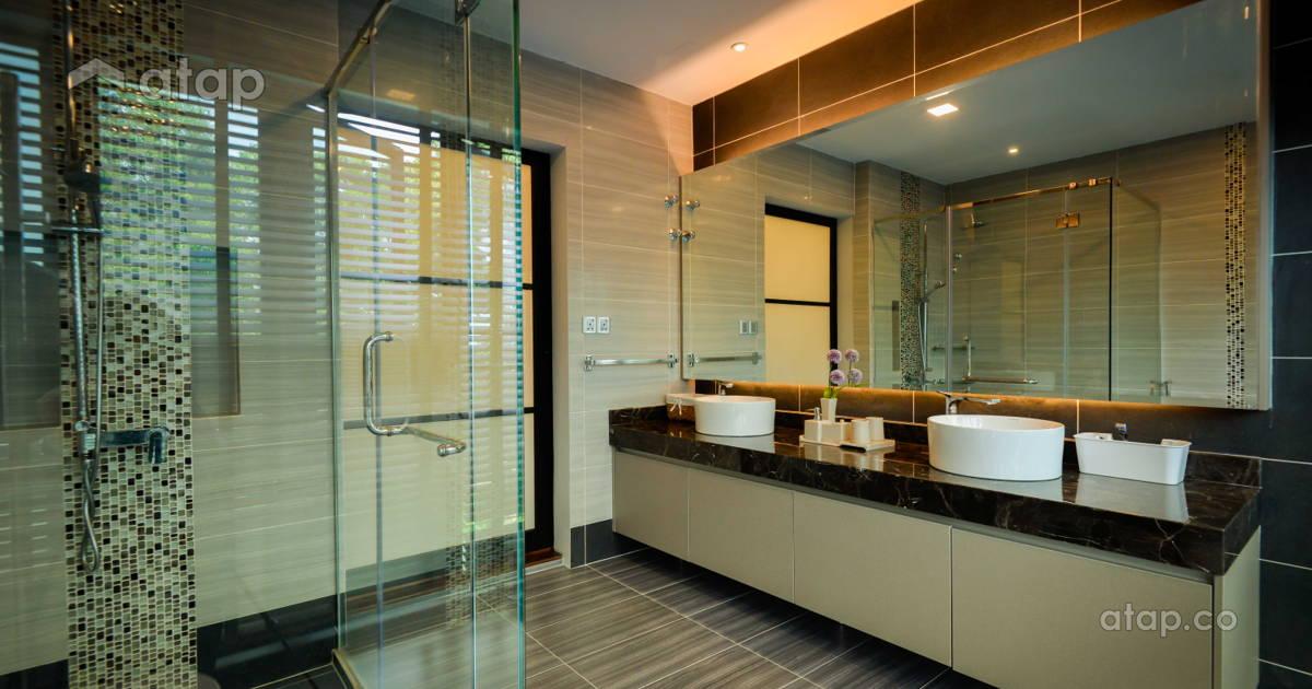 Modern Bathroom Semi Detached Design Ideas Photos Malaysia