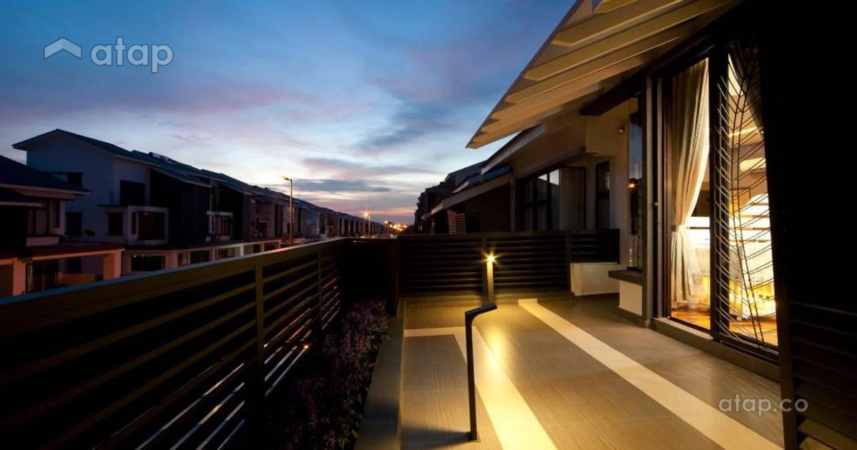 Malaysia beige balcony architectural interior design for Balcony design ideas malaysia