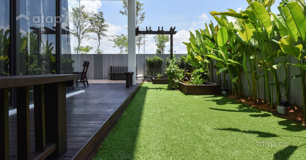 Asian Modern Exterior Garden bungalow design ideas ...