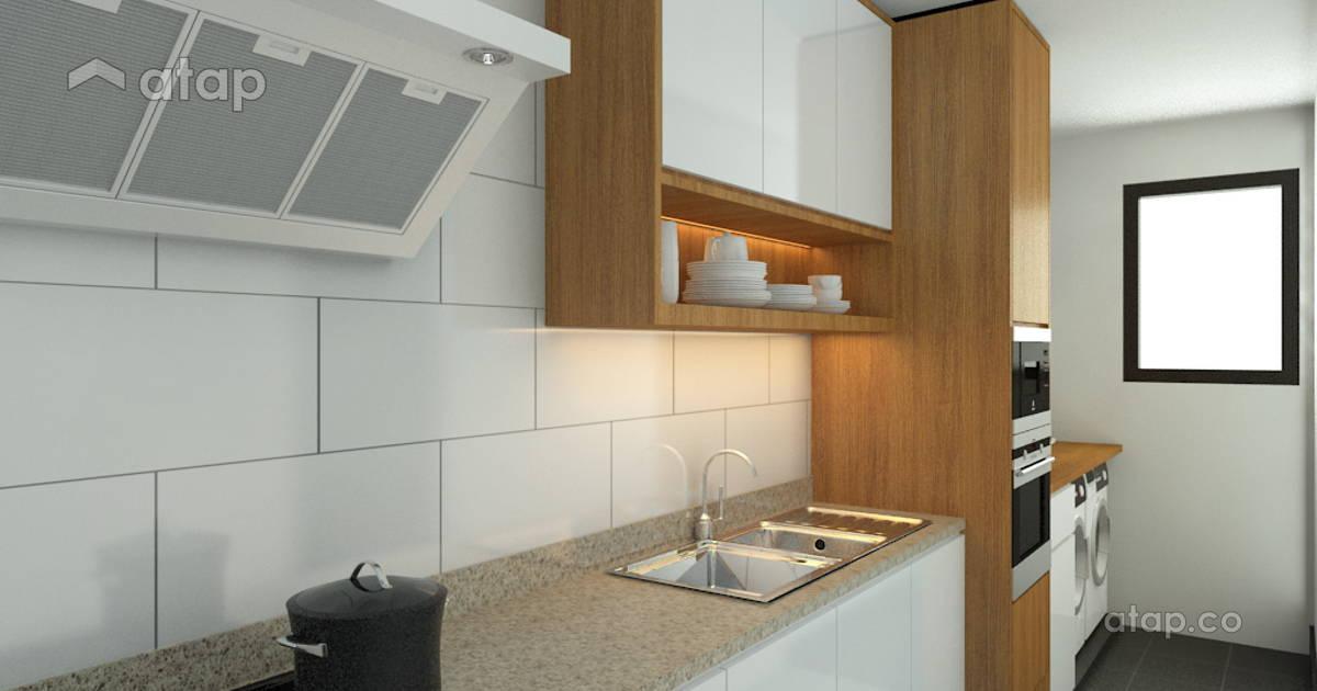 Residence Kampung Pandan Contemporary Modern Kitchen Apartment Design Ideas Photos Malaysia Atap Co