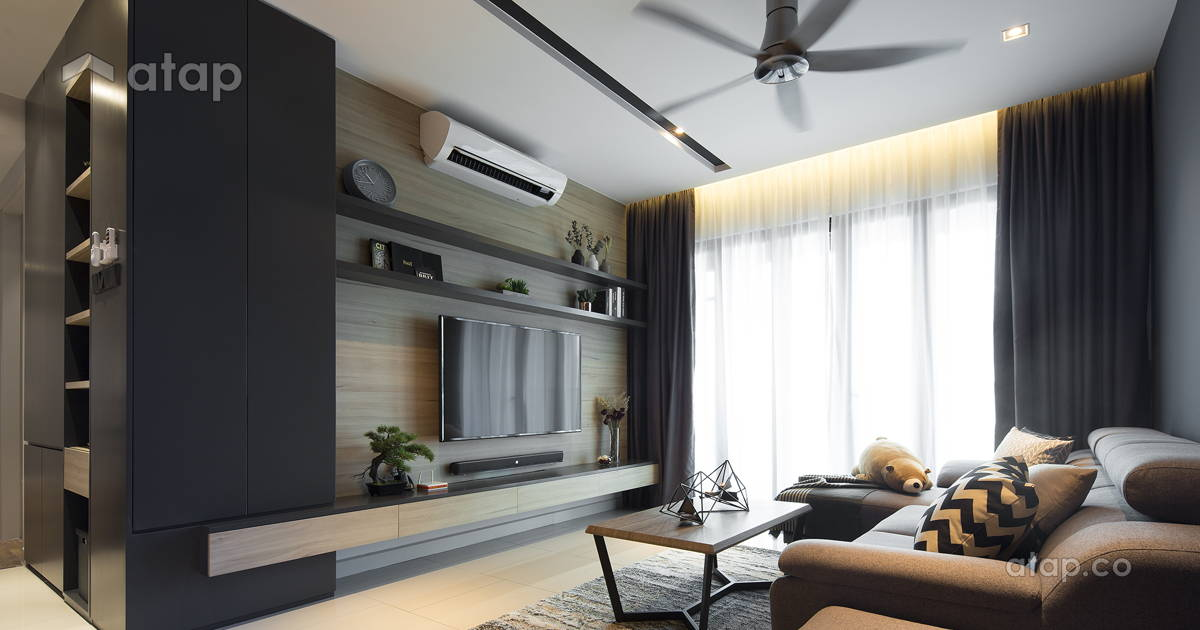 Contemporary Modern Living Room condominium design ideas ...