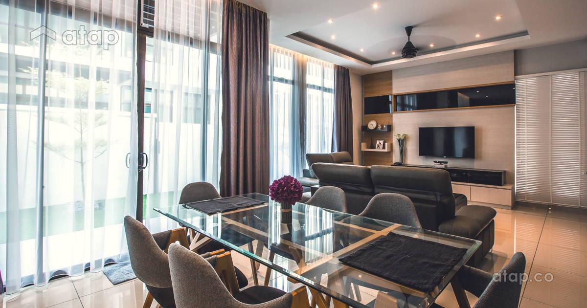 Contemporary modern living room terrace design ideas for Living room design johor bahru