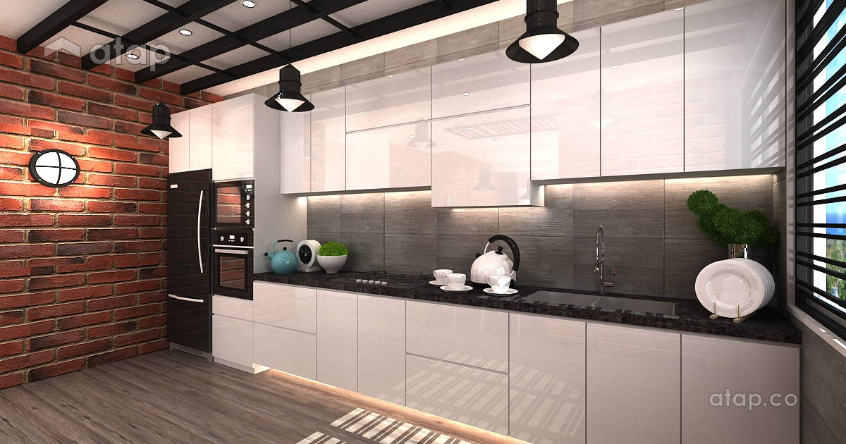 Modern Loft Style Industrial Kitchen Apartment Design Ideas Photos Malaysia Atap Co