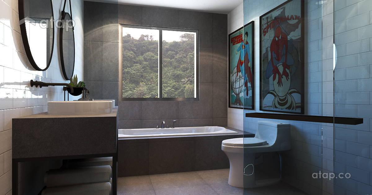Armanee Terrace Scandinavian Minimalistic Bathroom Condominium Design Ideas Photos Malaysia Atap Co