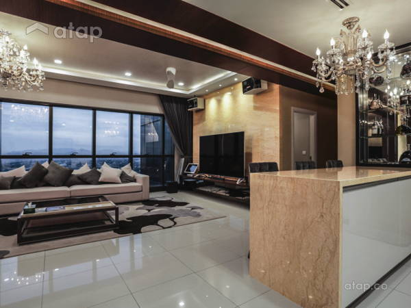 Contemporary Modern Dining Room Kitchen @ Luxury Condominium Unit @ Icon  City Condominium ...