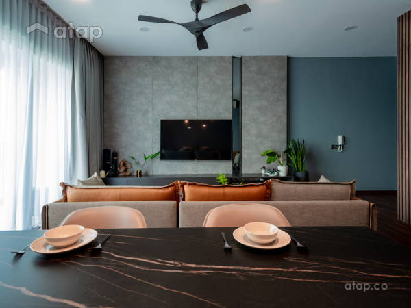 Contemporary Modern Living Room@A PERFECT BLEND OF COZY MINIMALIST