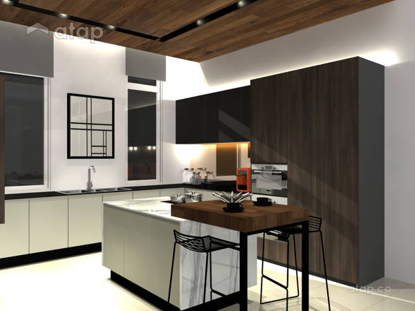 Malaysia Brown Kitchen architectural interior design ideas in