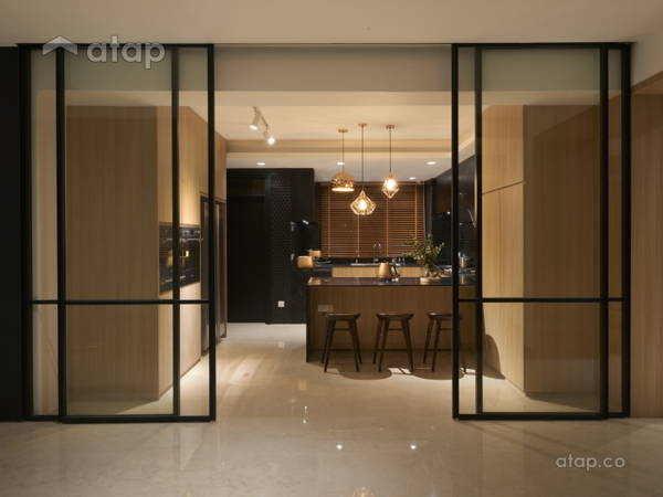 Contemporary Scandinavian Kitchen@A palette of black- Penthouse at Mont Kiara, KL