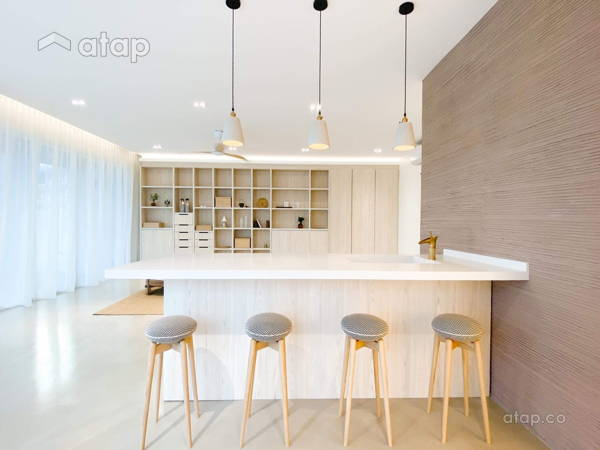 Minimalistic Zen Family Room Living Room@Armanee Terrace - Bu Bu's House