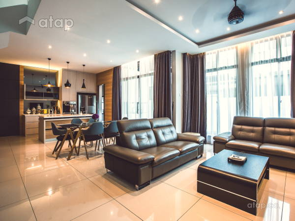 Contemporary Modern Kitchen Living Room@Adda Height, Johor Bahru (1)