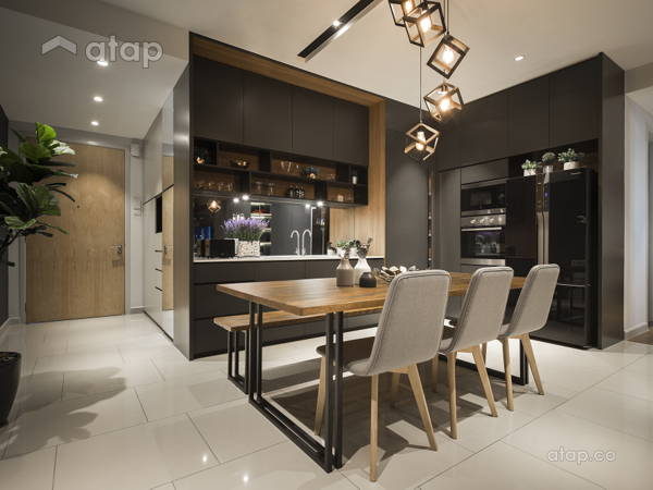 Contemporary Modern Dining Room Kitchen@The Reach, Titiwangsa