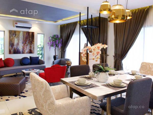 Scandinavian Dining Room Living Room@Serene Height