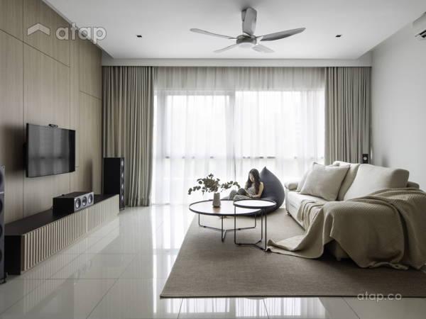 """Modern Zen Living Room@""""The MINUTIAE - Condominium"""