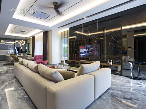 Contemporary Modern Living Room@Desa Hill Residence, Desa Petaling