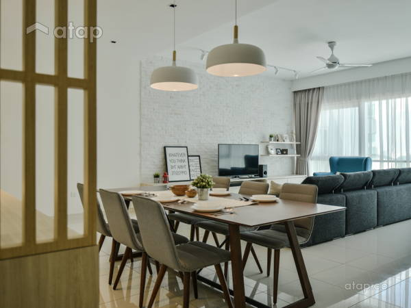 Minimalistic Scandinavian Dining Room Living Room@Seringin Residences, Kuchai Lama