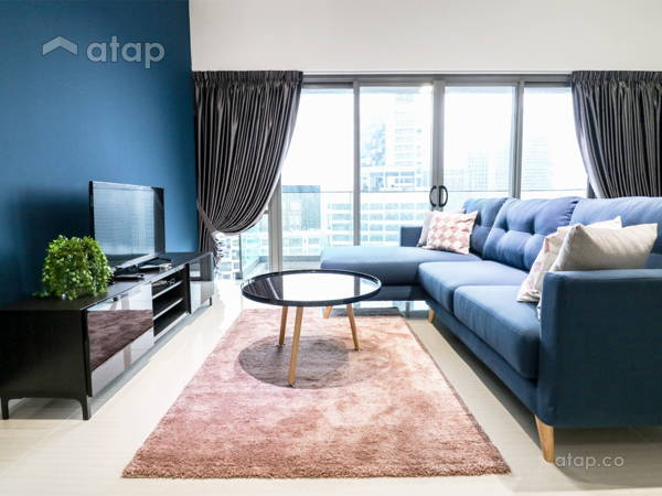 Contemporary Minimalistic Living Room@Reflection Residence @ Petaling Jaya