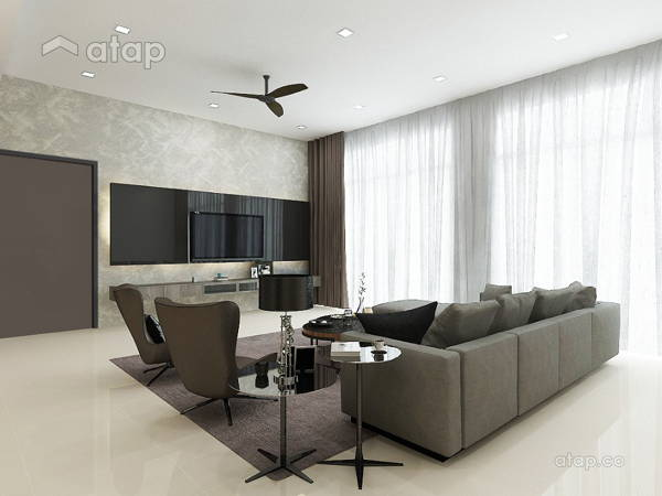 Modern Living Room@REGIO VILLA (MONTEREY), ECO SANCTUARY