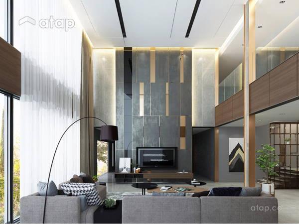 Contemporary Modern Living Room@T RESIDENCE AT KOTA KINABALU