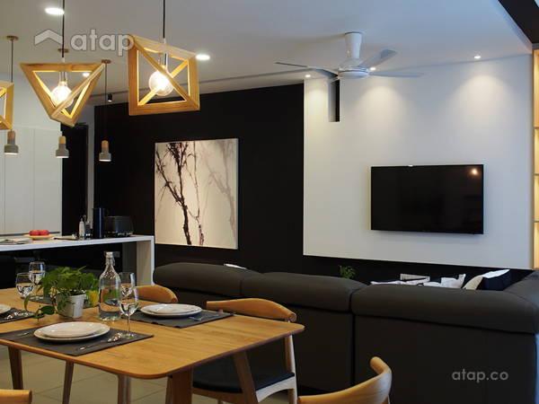 Minimalistic Scandinavian Dining Room Living Room@J + S Residence