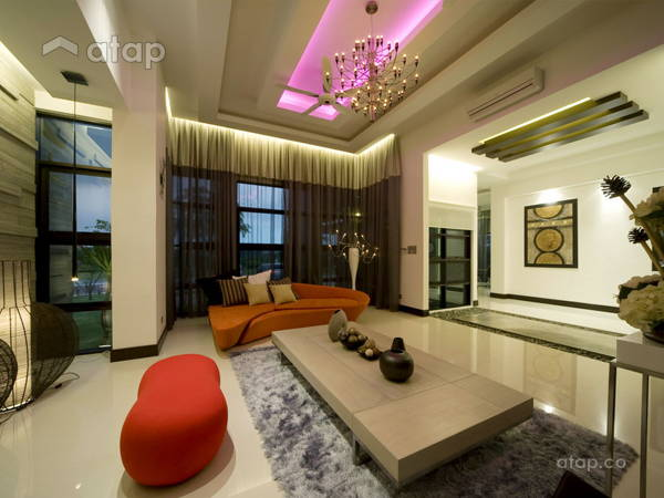 Contemporary Modern Living Room@Jennifer & Lew Bungalow