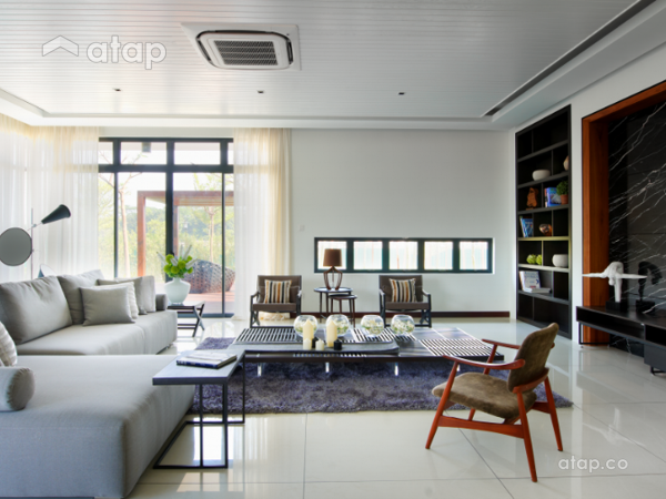 Contemporary Modern Living Room@The Straits View Residences