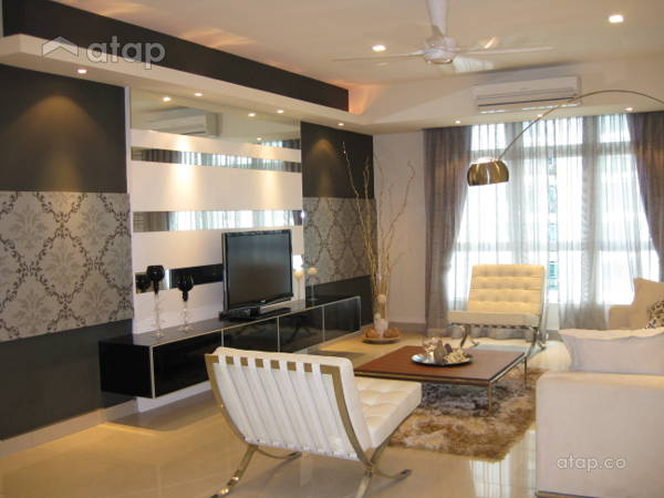 Contemporary Modern Living Room@633 Condominium Mont Kiara