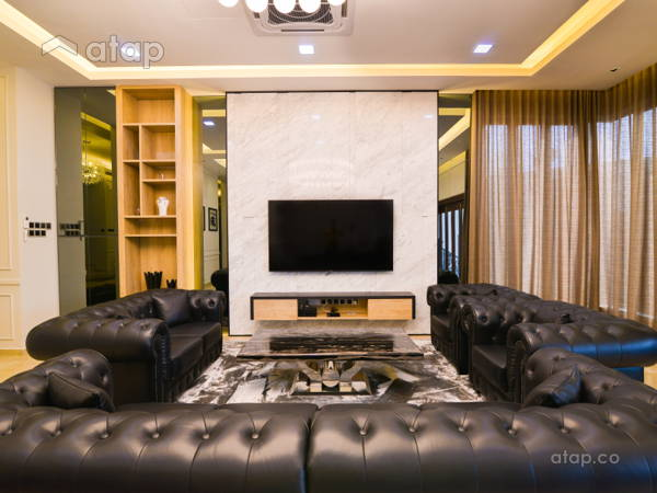 Contemporary Modern Living Room@Modern Luxury Bungalow at Pekan, Pahang