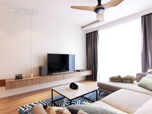 Contemporary Modern Living Room@Dwiputra Residence