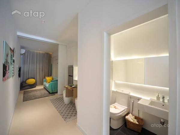Scandinavian Bathroom Living Room HighPark Suites Millimetre Design