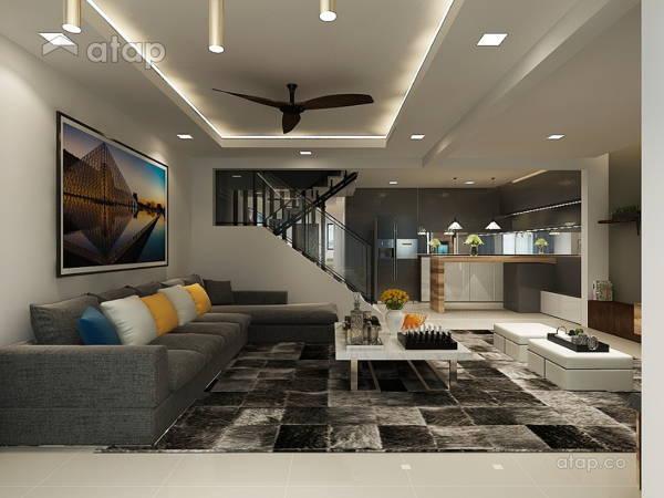 Contemporary Dining Room Living Room@SS7, KELANA JAYA