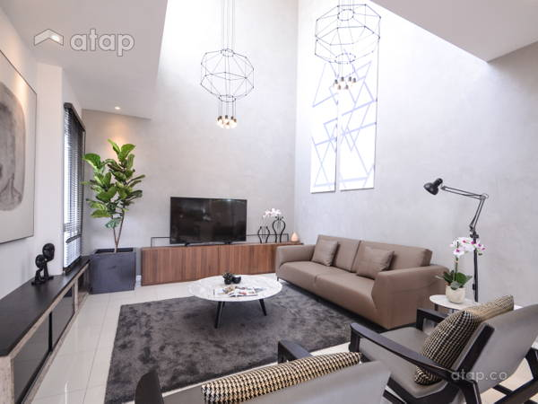 Contemporary Scandinavian Living Room@Alpina Residensi