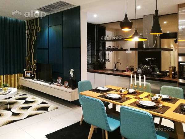 Contemporary Modern Kitchen Living Room@Sunway Gandaria (Show Unit - Type A)