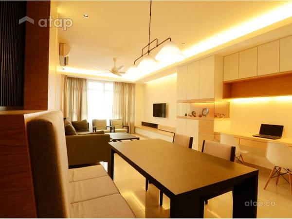 Minimalistic Living Room Dining All Seasons Park JGiConcept Design