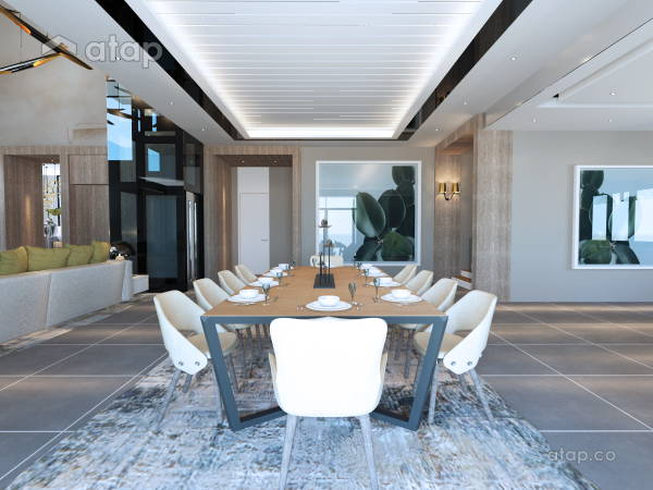 Malaysia Beige Classic Dining Room architectural & interior design ...
