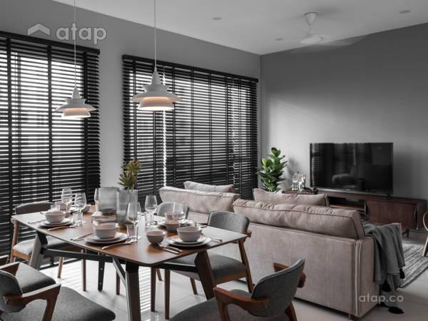 Malaysia Beige Living Room Architectural Interior Design Ideas