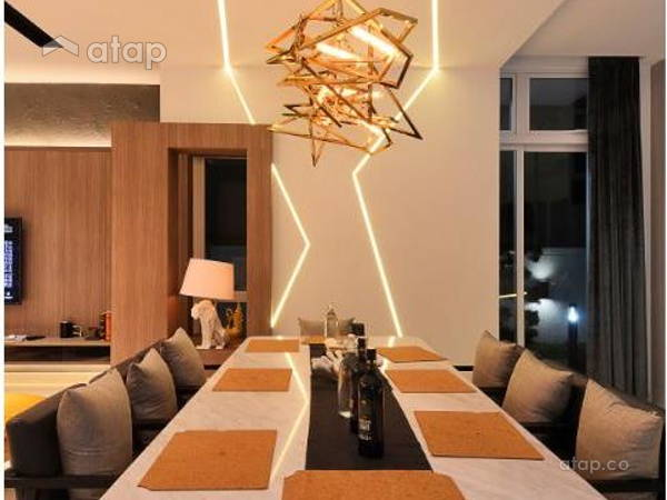 Contemporary Modern Dining Room@Semi-D, Kinrara Residence Ambrosia