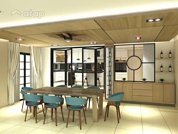 Contemporary Dining Room@Semi-D @ Subang SS14