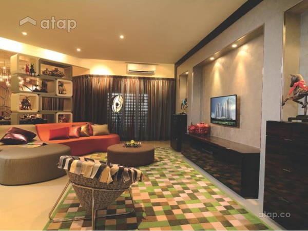 Contemporary Modern Living Room@9 Bukit Utama Show Unit (Block B)