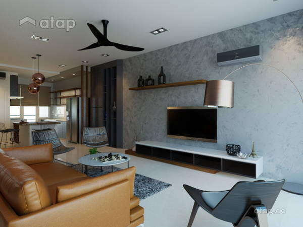 Contemporary Modern Living Room@Villa Pines Town House