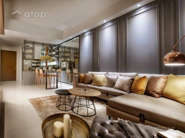Contemporary Living Room@Sentral Suites Corner D